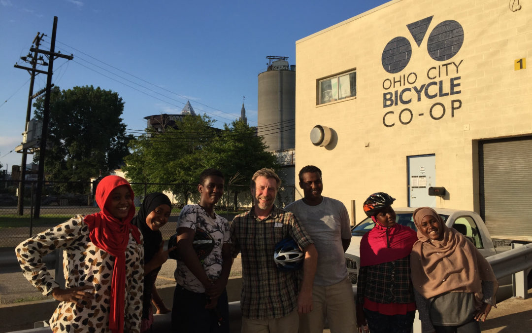 Somali Refugees Learn to Ride on Their First Co-Op Visit!
