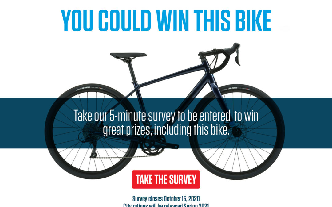 Got 5 minutes? Take the people for bikes survey and be entered to win!