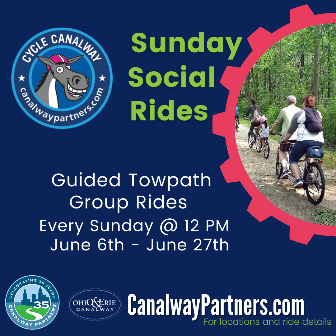 Cycle Canalway returns with Towpath Trail Bike Adventures & Weekly Sunday Social Rides!